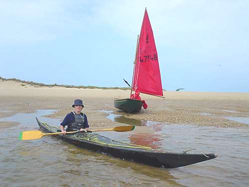 Sea kayak and Mirror dinghy