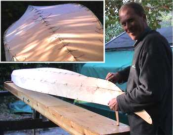 Plywood kayak hull joint 2