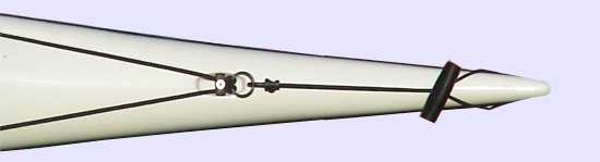 Bow toggle on sea kayak