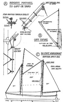 Rig for Conor O'Brien's 24 foot whaleboat