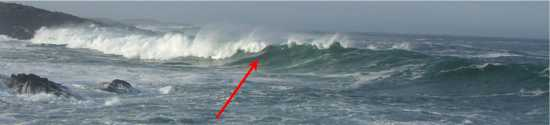 Breaking wave showing the shoulder