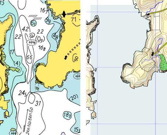 Map and chart comparison
