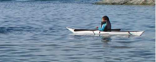 Child of 5 in kayak 1
