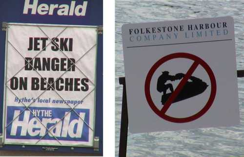Jetskiers banned