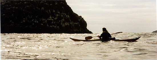 Solo sea kayaker