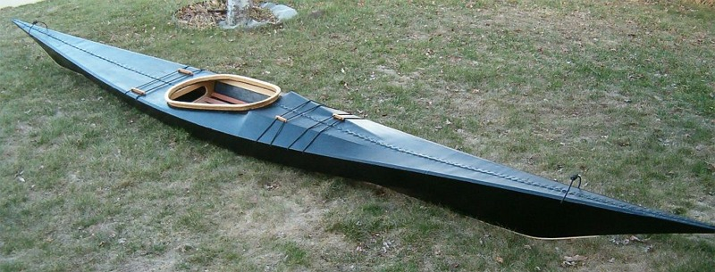 Variant of Disko Bay kayak with sawn frames